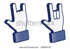 Hand symbol icon showing Love sign symbol for internet social media network in 3D isolated background (vector)