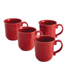 Love this Red Spiceberry Mug - Set of Four on #zulily! #zulilyfinds