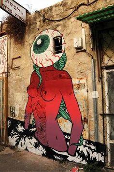 Best Graffiti & Amazing Street Art - Broken Fingaz Crew in Israel 3d Street Art, Best Street Art, Murals Street Art, Amazing Street Art, Street Art Graffiti, Street Artists, Graffiti Artwork, Mural Art, Graffiti Tattoo