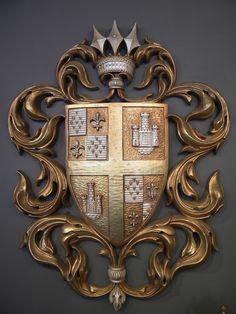 60's vintage heraldic crest