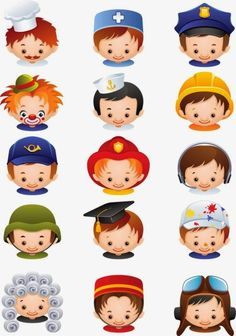 Illustration about Vector illustration - set of people occupations icons. Illustration of icon, firefighter, graduate - 14393389 Community Workers, Popular Cartoons, Magic Cards, Home Schooling, Infant Activities, Phonics, Handmade Crafts, Firefighter, Cartoon Characters