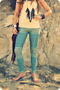 sea gypsy yoga leggings by purushapeople on Etsy