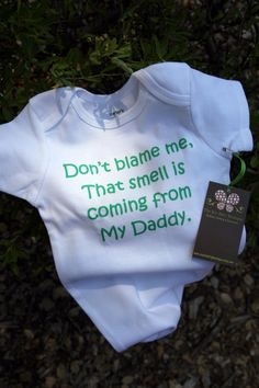 Don't Blame Me.. Funny Baby Onesie - Toddler Tee also available - Your Color Choice. $17.00, via Etsy.