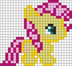 Flutter shy my little pony hama perler bead pattern Perler Bead Designs, Hama Beads Design, Perler Bead Art, Perler Beads, Melty Bead Patterns, Pearler Bead Patterns, Kandi Patterns, Perler Patterns, Beading Patterns