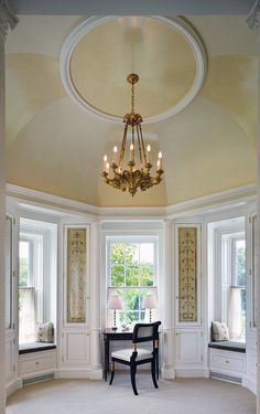 """ceiling paint treatment -- Cullman & Kravis: Country """"Horse Country Estate"""""""