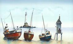The Little Fishing Fleet by Gary Walton