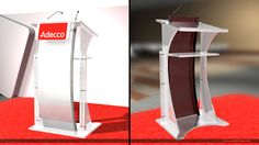 Lectern for ADECCO Convention created using 3D Max and Photoshop
