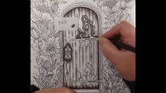 SOMMARNATT by Hanna Karlzon - coloring a wooden door - part 1