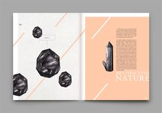 R O C C A  stories by Maiwenn Philouze, via Behance The colors work so well together and also create a comforting contrast. the eyes first go to the large drawing on the left butt the color draws the eyes to the next page.