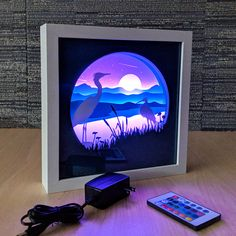 The Everglades (blue) The Everglades (blue). Paper Cut Light Box Art / Handmade Paper Silhouette Shadowbox Art / Multi-Colored LED Remote / Night Light For Home / Jewel Starz The post The Everglades (blue) appeared first on Paper Ideas. 3d Paper Art, Paper Crafts, Paper Paper, Paper Cutting Art, Paper Birds, Minecraft Decoration, Nature Paper, Licht Box, Shadow Box Art