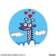 Colorida Jirafa. Giraffe #sticker