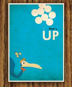 DisneyPixar's Up Poster por colorpanda en Etsy, $8.00