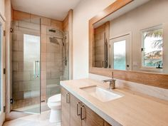 Contemporary 3/4 Bathroom with Augusta Decorative Undercounter Bathroom Sink with SanaGloss Glazing by Toto, High ceiling