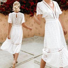 Marvelous #white #kimono Dress With #beige #heels #summer #summeroutfits #womenfashion #summerstyle