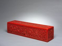 Scroll Box, 1644-1912 China, Qing dynasty (1644-1912) cinnabar lacquer on wood,