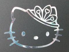 Hello Kitty princess tiara Hello Kitty Shoes, Hello Kitty Art, Hello Kitty Items, Hello Kitty Birthday, Kitty Kitty, Holographic Car, Hello Sanrio, Hello Kitty Tattoos, Princess Kitty