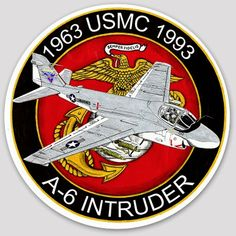 A-6 Intruder, USMC Commemorative Military Weapons, Military Aircraft, Fighter Aircraft, Fighter Jets, Badge, Air Force Patches, Military Insignia, Cool Patches, Us Marines
