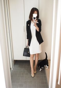 Womens Fashion For Work, Work Fashion, Professional Women, Office Ladies, Work Wardrobe, Elegant Outfit, Office Outfits, Cute Woman, Autumn Winter Fashion