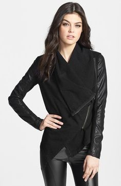 BLANKNYC 'Private Practice' Mixed Media Moto Jacket available at #Nordstrom