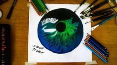 Blue Green Eye Study by andrewthedark