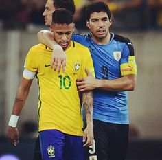 Barcelona duo Neymar JR and Suarez