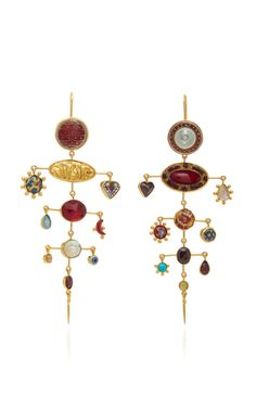2ce559068 Multi Layer Balance With Garnet Victorian Drops Earrings
