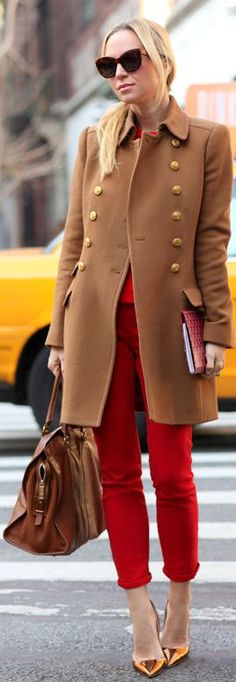 #Camel And #Red {again} by Brooklyn Blonde