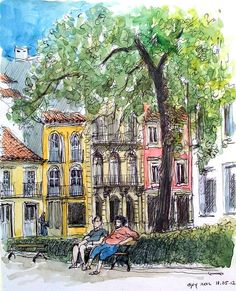 croquis aquarellé: Faro - Portugal by guy moll, via Flickr