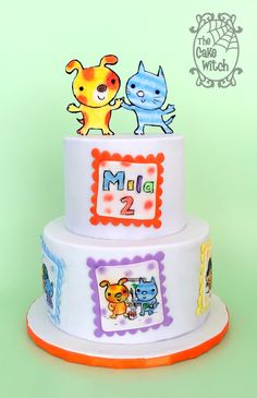 Dot and Dash Book Characters Cake