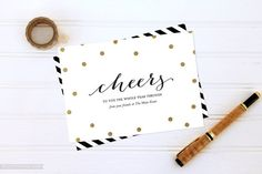 New Year's Cards - Glam Confetti | Felicity Paper on Etsy