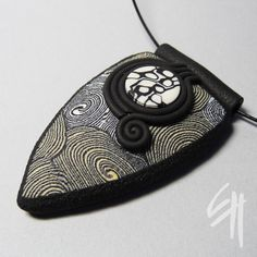 https://flic.kr/p/9pYxNr   Nature Inspiration   Polymer clay jewellery - pendant.