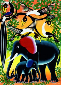 Elephant Family: Tinga Tinga Art From Africa.