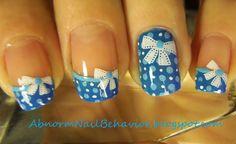 blue-bows-and-polka-dot-french-tip-nails Nail art tutorial abnormnailbehavior.blogspot.com