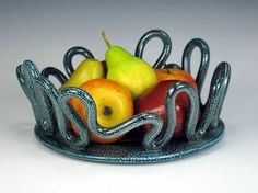 Salt glazed fruit bowl