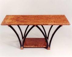 Sean Feeney - Burr Elm 및 카메룬 에보니의 가정용 가구 디자인 아이디어를위한 맞춤형 나무 형 로우 테이블