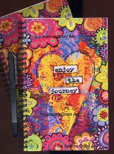 Enjoy the journey mixed media art journal notebook mixed media journal, journal notebook, mixed Mixed Media Journal, Mixed Media Art, Gelli Arts, Plate Art, Bullet Journal, Journal Notebook, Painting For Kids, Medium Art, Art Journals