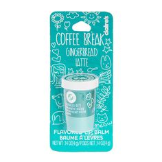 Take a coffee break without leaving your desk. This miniature coffee cup featuring the flavor gingerbread packs a whole latte flavor in one small container. Apply smoothly and evenly to lips.