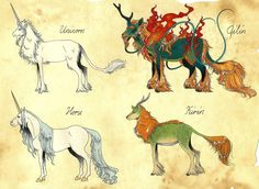 Stylizing of different cultures ~ Unicorn and Qilin by ~Megaloceros-Urhirsch on deviantART