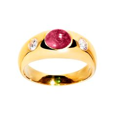 Band ring with ruby