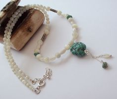 Turquoise, Mother of Pearl Sterling silver Necklace £37.00