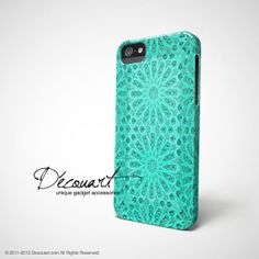 iPhone 5 case, iPhone 5s case, iPhone 5 cover, case for iPhone 5, mint tiffany emerald teal turquoise floral pattern S512