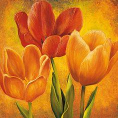 ✿ Bright Yellow Tulips