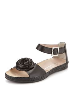 aef0064f5 Sesto Meucci Zoey Rose Flat Leather Sandal