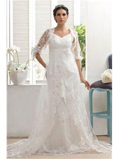 Gold Coast 3/4 Sexy Sleeve White Lace Wedding Jacket (21191)