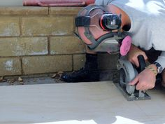 Step 5 - Use Circular Saw to Cut Plywood to Size