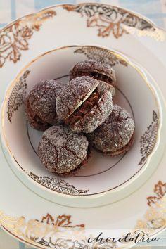 Uma delícia!!! Cookies recheados com Ovomaltine