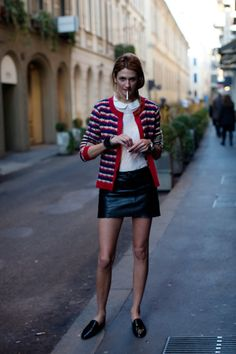 districtofchic:        leather skirts are so much more versatile than they get credit for (via the Sartorialist)