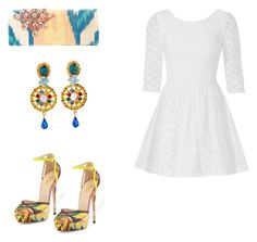 """Outfit of the day"" by shinella-blair-harris on Polyvore featuring Oscar de la Renta, Lilly Pulitzer, Dolce&Gabbana and shinellasfashion"