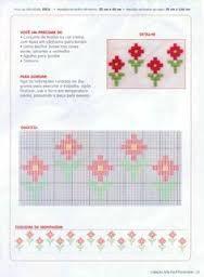 Resultado de imagem para ponto crivo de flor para caminho de mesa