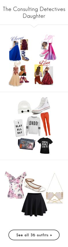 """""""The Consulting Detectives Daughter"""" by peaceangel2025 on Polyvore featuring Marchesa, Halston Heritage, Sole Society, Converse, Disney, Nicole Lee, ONLY, Victoria, Victoria Beckham, WithChic and Call it SPRING"""